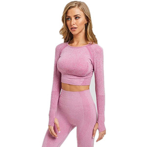 yoga two-piece season women's navel-exposed Fitness sports suit