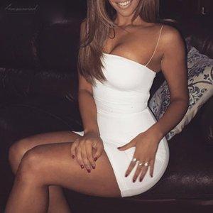 Spaghetti Strap Strapless Summer Mini Dress Sleeveless Off Shoulder Cotton Sexy Dress Women Backless Beach Casual Dress