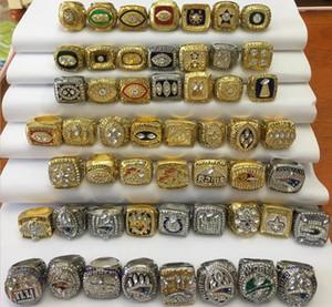 53 piezas 1966 a 2018 anillo de campeonato de fútbol americano súper conjunto ventilador hombres promoción regalo al por mayor 2019 envío de la gota