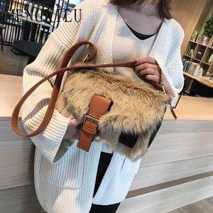 Heißer Verkaufs-neue Winter-Crossbodybag Frauen sacken Luxus Frauen Handtaschen-Geldbeutel-Entwerfer-Marken-Damen-Pelz-Schulter-Kurier-Taschen