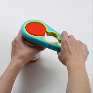 Herramientas de la cocina 4 en 1 en forma de calabaza abrelatas Multi Propósito Tarro del tapón de tuerca abridores de botellas Tapa de acoplamiento de llave Accesorios de Cocina