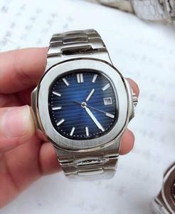 Нью-Йорк завод горячие продажи роскошные мужские часы автоматические механические часы 5711 часы ремешок из нержавеющей стали бизнес верхняя дата наручные