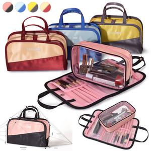 4 Estilos Organizador cosmético bolsa de maquillaje pincel Bolsa de viaje Baño Aseo Bolsas Lavar Bolsa Impermeable Gran capacidad Bolsas de maquillaje DHL gratis