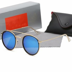 2020 Wholesale price sunglasses for men and women high quality gold frame sport fishing driving glasses with case and box3647