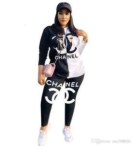 Tamaño más Ropa Imprimir pantalones de chándal de la camisa del otoño del verano dos pedazos fijaron a las mujeres T chándal traje deportivo de Calle 998