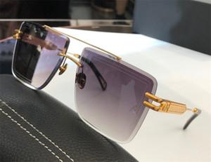 Top K hombres gafas de sol de oro diseñador superior vidrios del coche DUSKII moda UV400 lentes de gafas al aire libre de cristal sin marco de corte cuadrado