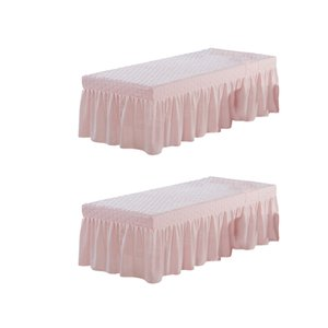 2pack Pink_2 de Microfibre cosmétiques Matelas Valance Feuille Table de massage Jupe style européen