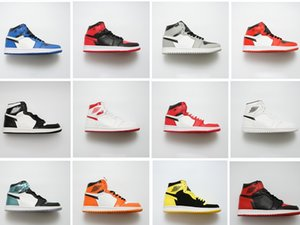 2019 yeni 1 DÜŞÜK erkek yüksek top kaykay klasik 1 OG Bred Toe Chicago kırık joe1 bayanlar basketbol spor ayakkabı boyutu 36-46
