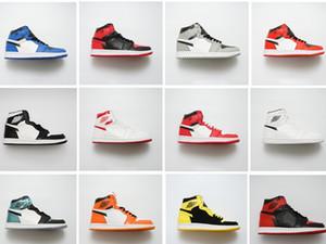 2019 nuevo 1 LOW monopatín alto para hombre clásico 1 OG Bred Toe Chicago broken joe1 zapatos deportivos de baloncesto para mujer talla 36-46