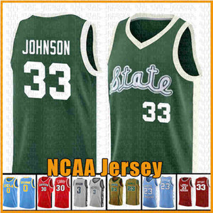 tamaño adulto 33 Earvin Johnson Baloncesto Jersey Universidad de Michigan Srate NCAA jerseys Jabbar-Abdul Kareem Larry Bird 33