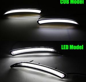 1 Pair Araba Buick Regal GS Opel Insignia Için LED DRL 2010 2011 2012 2013 2014 2015 Sis Kapak Gündüz Farları