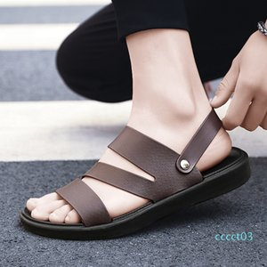 UYOYU Hot Sale New Fashion Summer Leisure Beach Men Shoes High Quality Leather Sandals The Big Yards Men Sandals Size 38-48 ct3