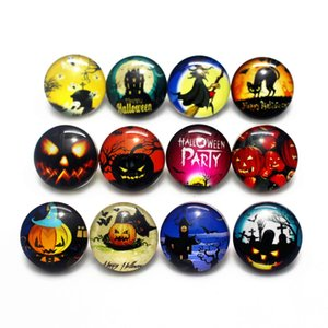 NOOSA Snap Jewelry 18mm Snap Button For Halloween 100pcs lot Mixed 18mm Snaps Buttons 18mm Snap Button Noosa Button Diy Bracelet Accessories