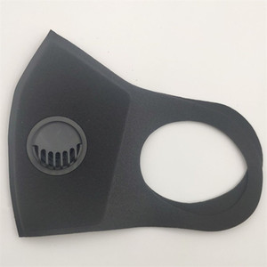 Новые Защищаем маски с дыханием клапан Pure Color 2 слоя Губка Рот маска Мужчины Женщины Stereo Рот муфельной пыленепроницаемый 2 5jf E1