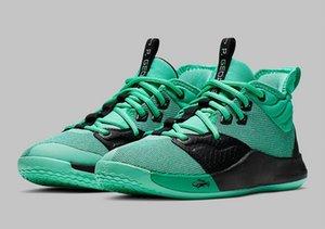 PG 3 Menta Menta subida verde esmeralda con los zapatos de la caja de nuevo Paul George baloncesto almacenar en venta US7-US12