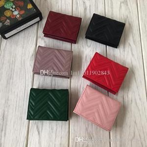 Kurze Leder-Geldbörsen, wellenförmige Brieftaschen, Alphabetische Bronze-Hardware, Farbe 6, Kurze Geldbörse, Mehrfarben-Geldbörsen, 466492