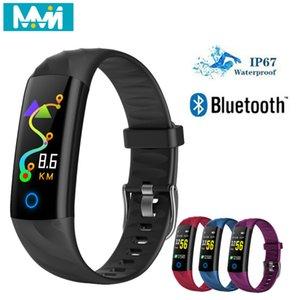 MMN S5 Smart-Armband Fitness Herzfrequenz-IP68 wasserdicht Blutdruck-Sauerstoff-Monitor-Farbbildschirm Activity Tracker Smart-Band