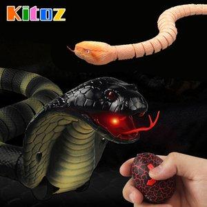 Kitoz RC Yılan Naja Cobra Viper Uzaktan Kumanda Oyuncak Kızılötesi Simüle Hayvan Yenilik Trick Dehşetli Yaramazlık Joke Hediye Y200317