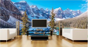3d room wallpaper custom photo mural Snow mountain forest lake sea view decor background painting 3d wall murals wall paper for walls 3 d