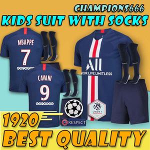 Crianças kit 19 20 psg camisas de futebol dama casa maillot de pé 2019 2020 Paris Patch camisetas criança camisas de futebol