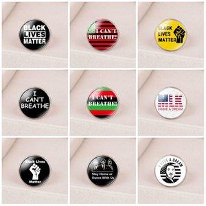 9 Viaggio Non posso respirare commemorative Anelli di protesta Anelli americani semplice parata di nero decorazioni VIVE MATERIA T3I5818