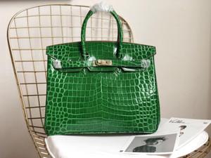 sacs à main designer luxe sac à main alligator motif de crocodile 25cm 30cm 35cm cuir véritable femmes jambons sac à main sac de mode