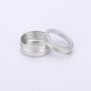 60ml Crème aluminium Conteneur bidon en métal Jar Pot avec fenêtre visible Boîte à vis du couvercle Vider Boîtes cosmétiques DHB666
