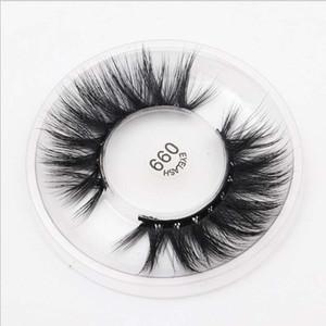Make-up için El yapımı Vizon Saç Kanatlı Kalın Yumuşak Göz Lashes Doğal Uzun Dağınık Çapraz takma kirpik 20pairs # 099