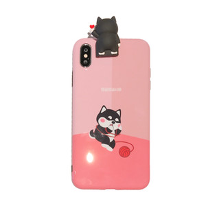Pink Color Dog Pattern Phone Case for Samsung S10 S10+ for Huawei P30 pro for iphone x xs xs max