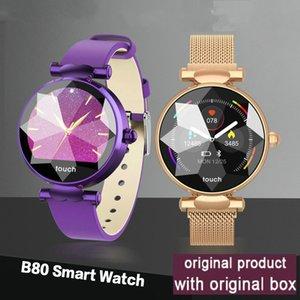 B80 intelligente Montre Femme Moniteur de fréquence cardiaque Activité Fitness Blood Pressure Tracker intelligent Bracelet Sport Mode Femmes Montres