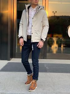남성 2,019 옷 야외 고체 짧은 거위 털 지퍼 재킷 따뜻한 남성 겨울 코트 착실히 보내다 최고 품질의 다운 후드 코트 파카 재킷 93-6