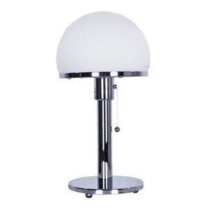 Nordic Chrome Hemisferio de cristal blanca de metal de lámpara de mesa de noche lámpara de escritorio de la decoración del arte Fixture TA104