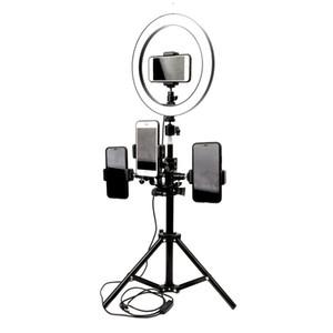 10inch 26cm USB Arayüzü Dim LED Selfie'nin Halka Işık Kamera Telefon Fotoğrafçılık video Makyaj Lambası Stüdyo Tripod Telefon Klip Tutucu