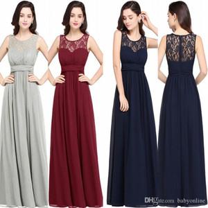 Ülke Ucuz Gelinlik Modelleri Düğün Uzun Şifon A-Line Resmi Elbise Onur Wedding Guest Parti Gowns CPS614 Of Modest Hizmetçi için