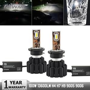 2 개 P9 LED 자동차 헤드 라이트 D2H D1S D3S D4S D2R D2S LED 전구 6000K 100W 자동차 라이트 13400LM D2S 헤드 램프 자동차 안개 빛