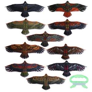 30 Metre Uçurtma Hattı Çocuk Uçan Kuş Uçurtmalar Windsock Açık Oyuncak Bahçe Bez Oyuncak İçin Çocuk Hediye 1,1 m ile Düz Kartal Uçurtma