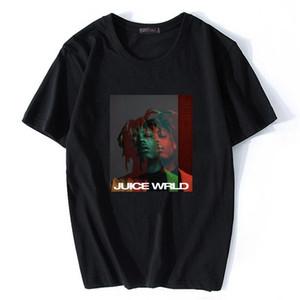 Hip hop cantante respecto jugo WRLD impresión camiseta hombres Streetwear Swag moda Unisex Tops rapero Fan Club hombres Harajuku camiseta