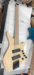 Wholesale New Arrival 5 String Electric Bass Guitar Headless Bass Top Quality In Natural 20 0601