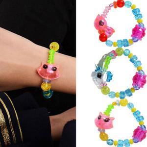 Cute Fashion design High quality Acrylic Surprise Twisted Magic Unicorn Bracelet Animal Bracelet Toy Girls Kids DIY Gift