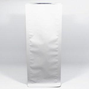 11 * 27 + 7.5cm 20Pcs / Lot Kahve Gıda Organ Paketleme için Mat Beyaz Alüminyum Folyo Körükler Cep Isı Seal Akordeon Pocket Stand Up