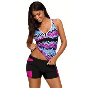 Pa Meng New Swimsuit sem fio Push-up low-rise calças geométricas Duas Peças Swimsuit 410456