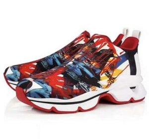 Мужская дизайнерская повседневная обувь Новые кроссовки Krystal Spike Sock Роскошные красные кроссовки из неопрена Мужские кроссовки с заклепками на плоской подошве 100