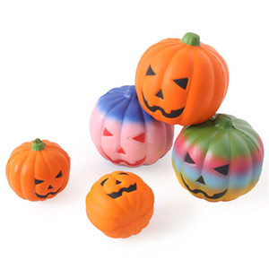 10cm Halloween Beau cadeau Pumpkin Head Squishy lente hausse squeeze élastique Pain Charm Stress Relief Kid Toy Party Favor VT0504
