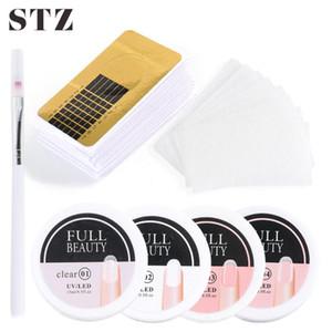STZ 1 juego de uñas Kit de extensión de manicura rápida Edificio Poli Gel Esmalte de uñas Extensión Formulario Guía de Arte de fibra de vidrio acrílico # 1800