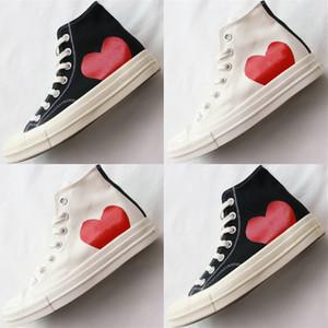 sapatos peça clássica 1970 Canvas Conjuntamente olhos grandes do coração Chuck 70 Hi Preto desenhador ocasional Skate Sneakers 35-44