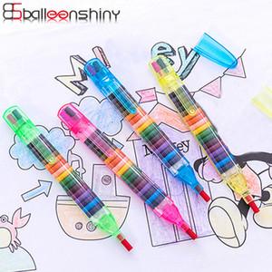 Детская живопись игрушки 20 цветов восковой карандаш детские забавные творческие образовательные масляные пастели дети граффити Pen Art Gift 4 шт Оптовая
