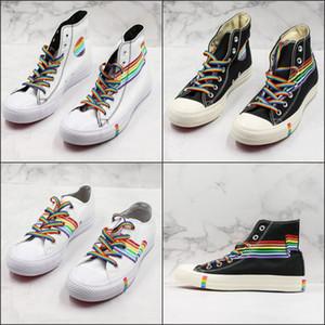 2019 Moda 1970 Zapatillas deportivas de lona Chuck 70s Classic 1970s Zapatillas de lona Taylor Couple Rainbow Shoeslace Zapatillas de entrenamiento casuales