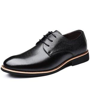 Nuevos zapatos formales de primavera Zapatos de hombre Cuero genuino Casual Pisos de los hombres respirables Zip Oxford Vestido de negocios Sorrynam
