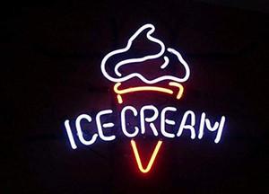 Ice Cream Néon pour la maison Chambre à coucher Garage Décor Wall Light, Striking Néon Bar Pub Hôtel Cave Man Salle de jeux de loisirs