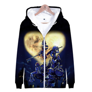 wholesale 3D kingdom hearts Hoodies Women Men Printed Thicker Fluff Warm Fashion Chinese Zipper Sweatshirt Coat Sudaderas